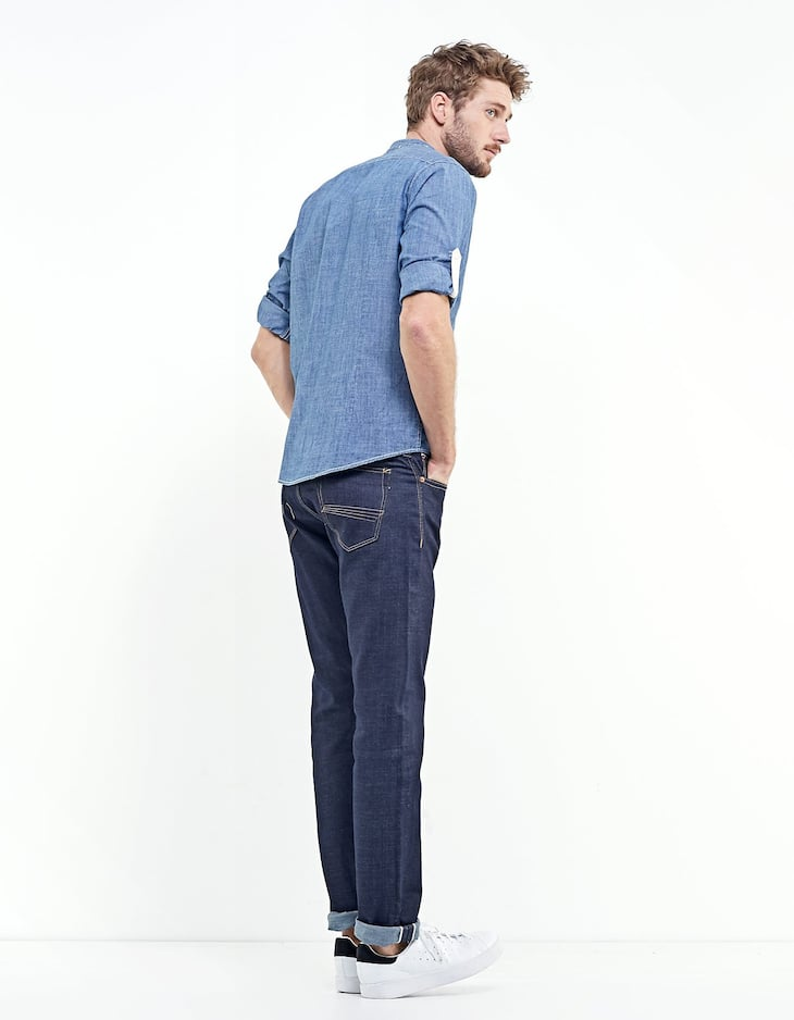 Blugi regular fit selvage
