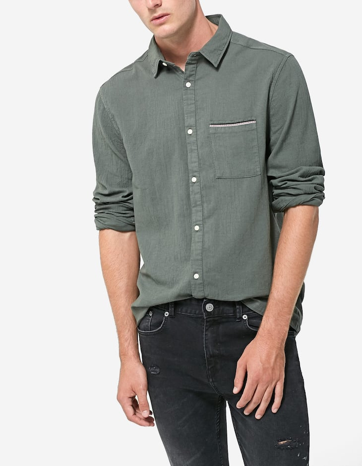 Tinted shirt with pocket