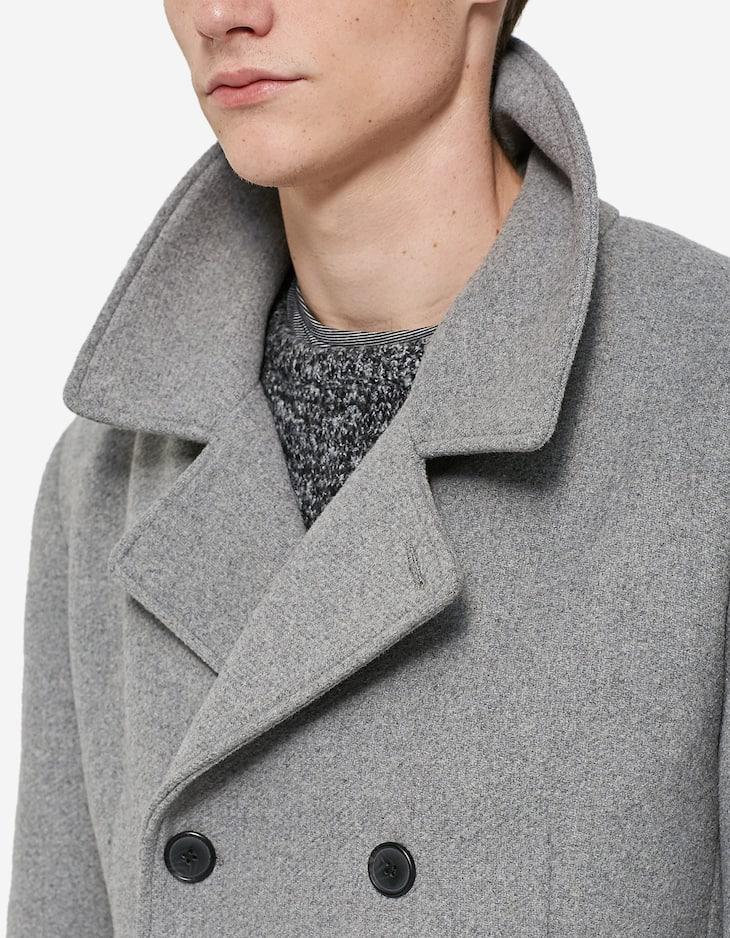 Basic double-breasted coat