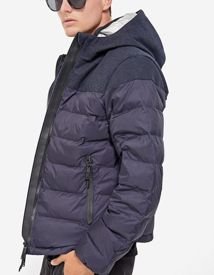Technical down puffer coat