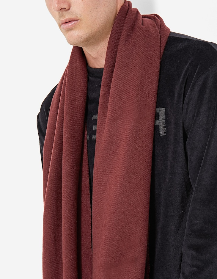 Solid-coloured scarf
