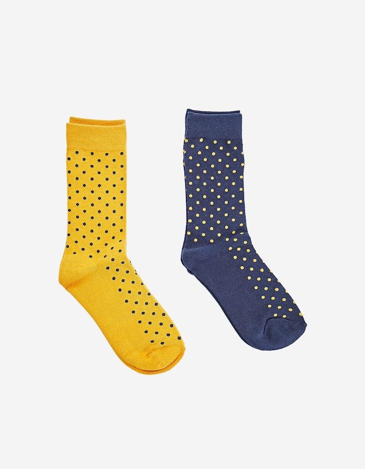 Pack of 2 pairs of long polka dot socks