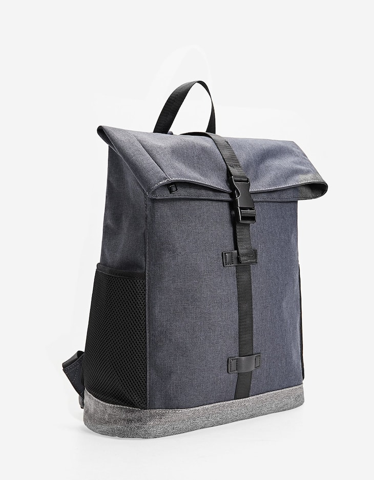 Rolling two-tone backpack