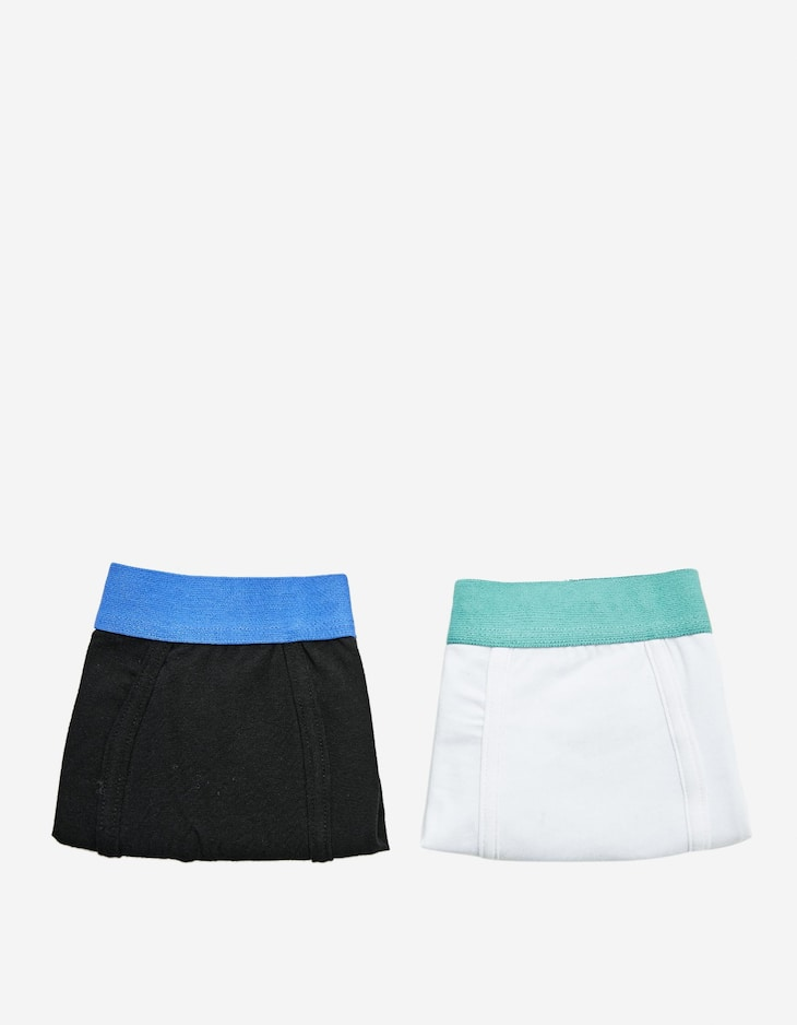 Pack of 2 solid two-tone boxers