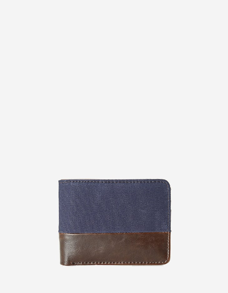 Wallet in two materials
