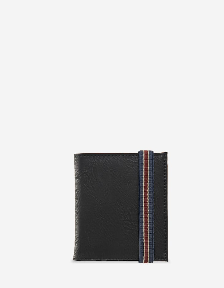 Wallet with striped band