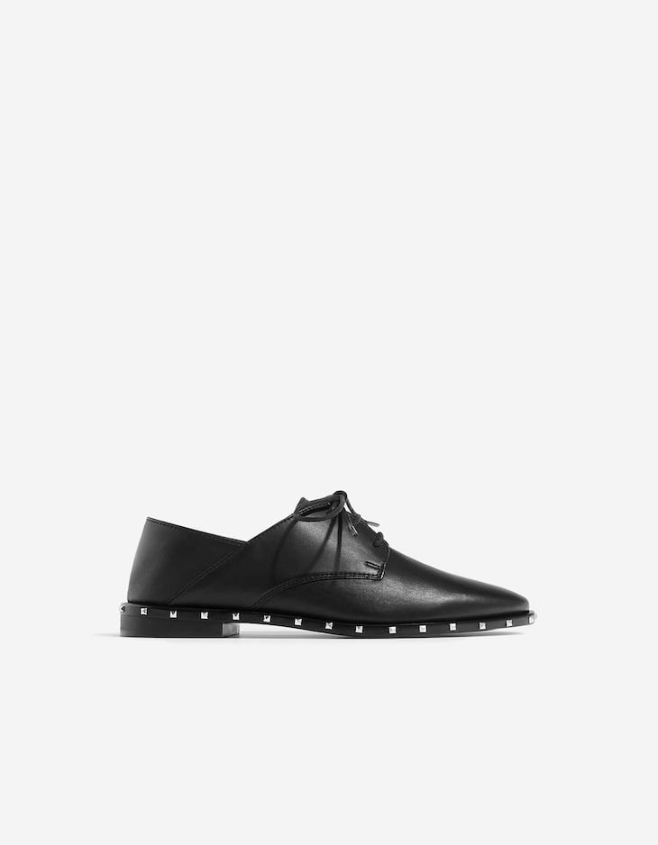 Studded LEATHER bluchers