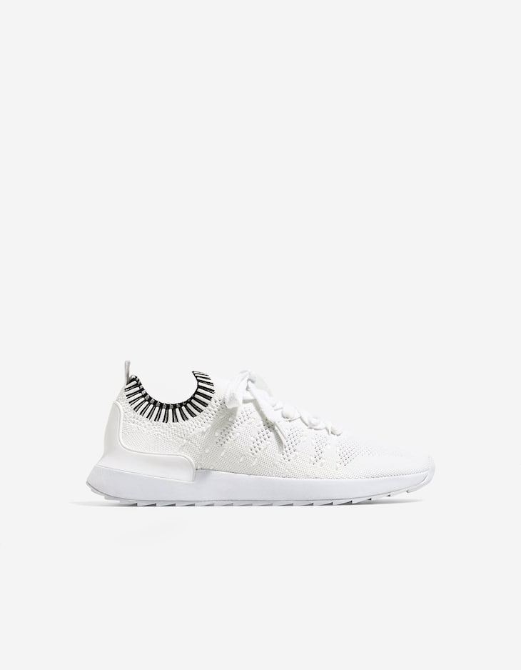 White technical sneakers