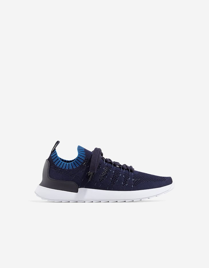 Blue technical sneakers
