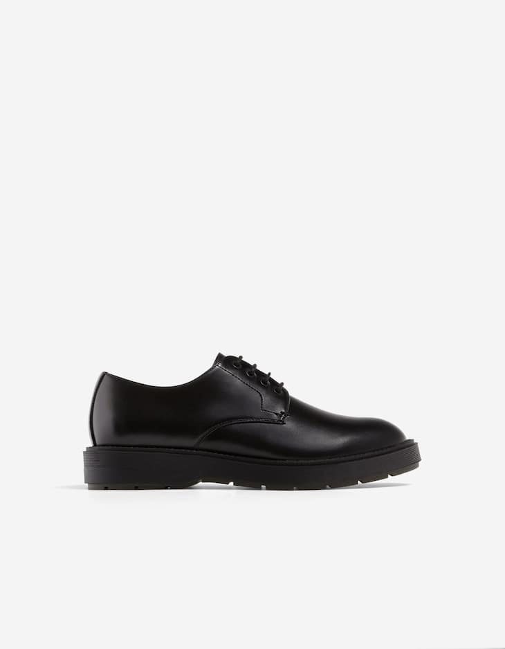Black track sole shoes