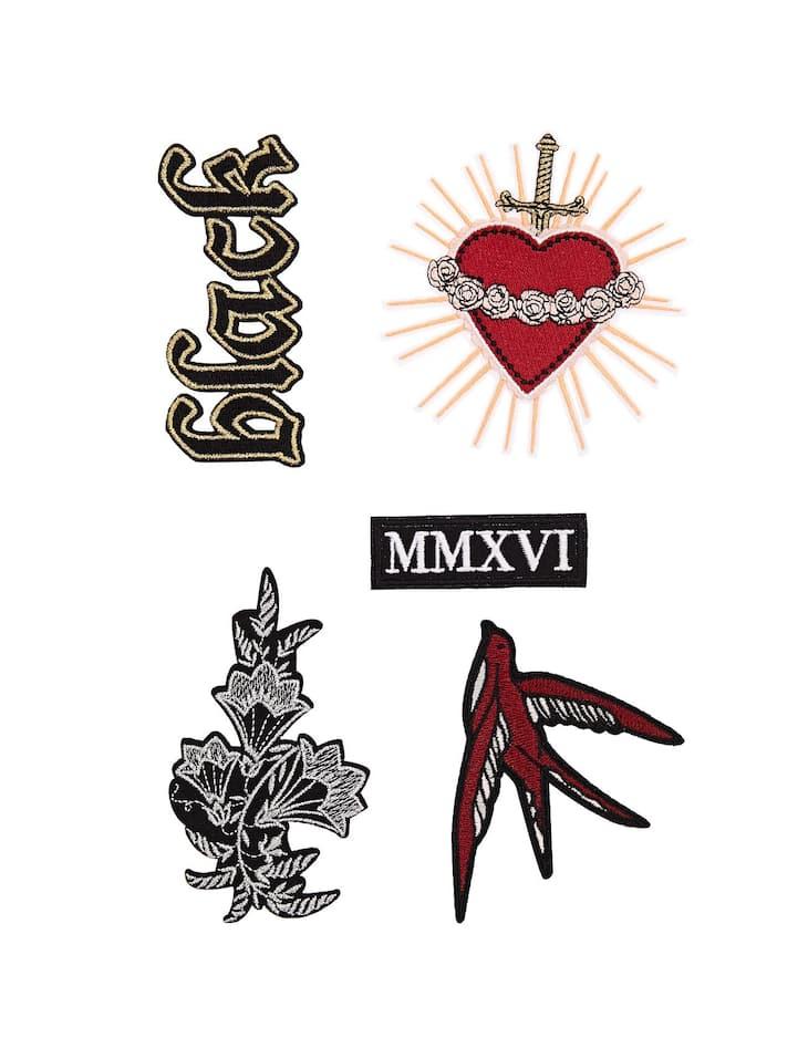 Lot 5 patchs tatouages