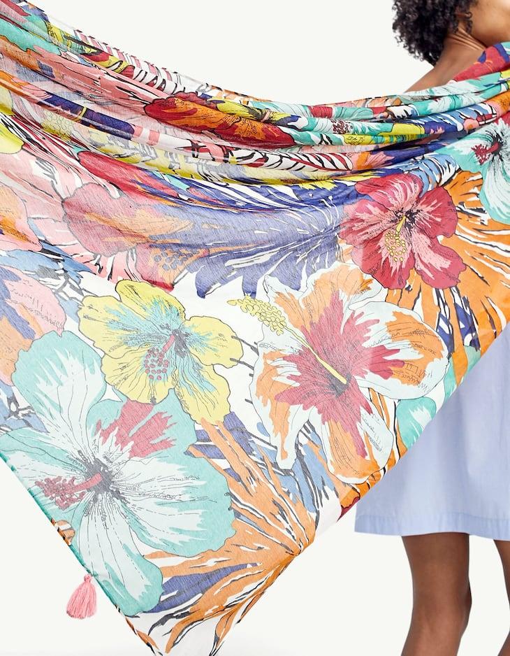 Hawaiian flower scarf