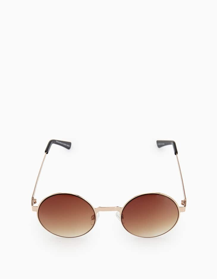 Round sunglasses with metallic frames