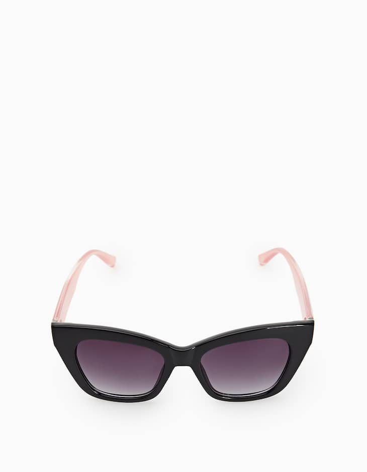 Sunglasses with contrasting frames