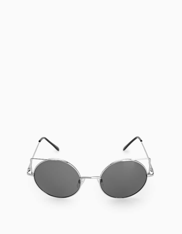 Round metallic sunglasses