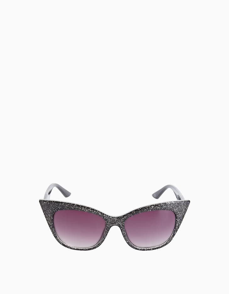 Glitter cat eye glasses