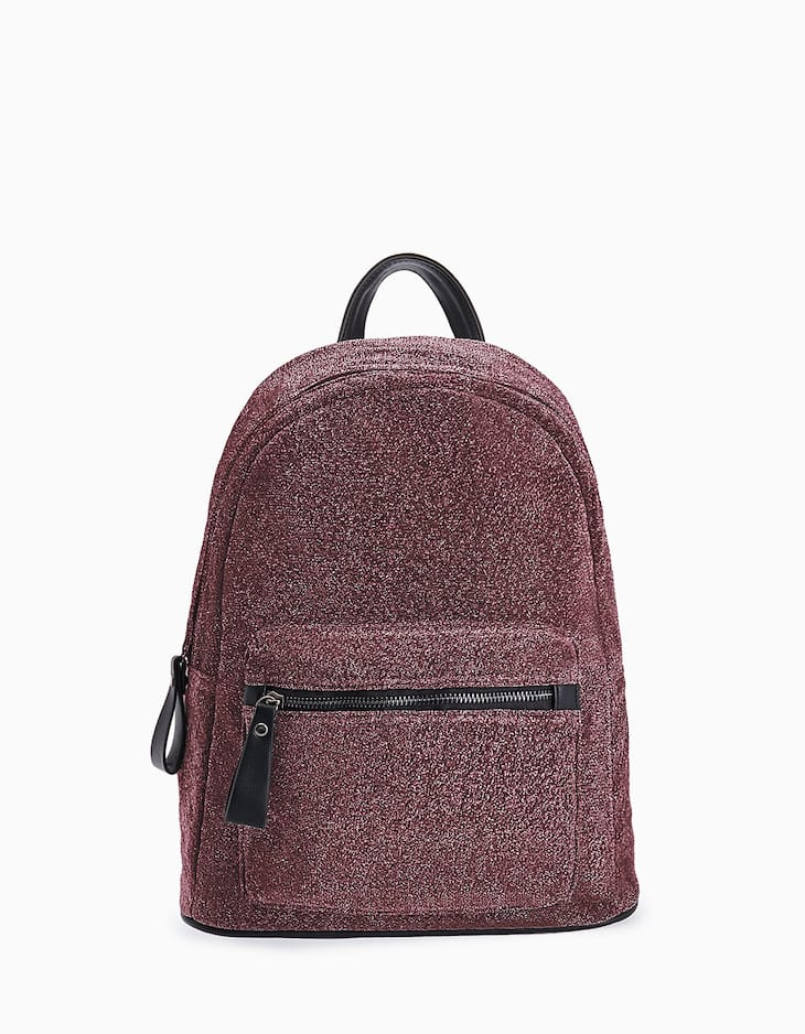 Backpack in shiny material