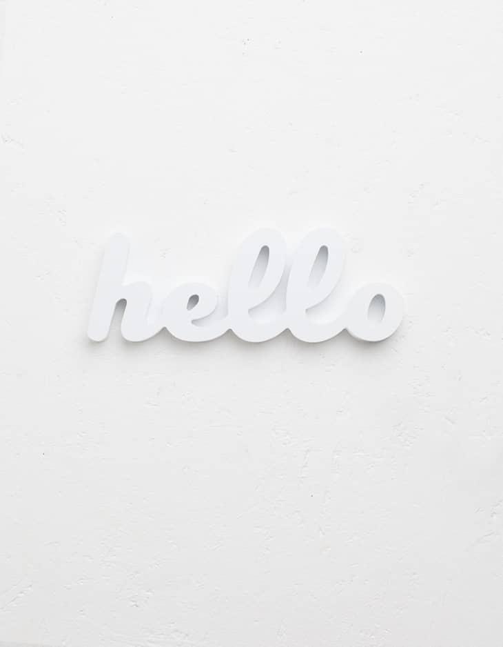Cartel pequeño Hello