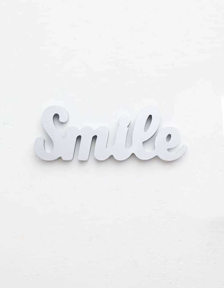 Cartel pequeño smile