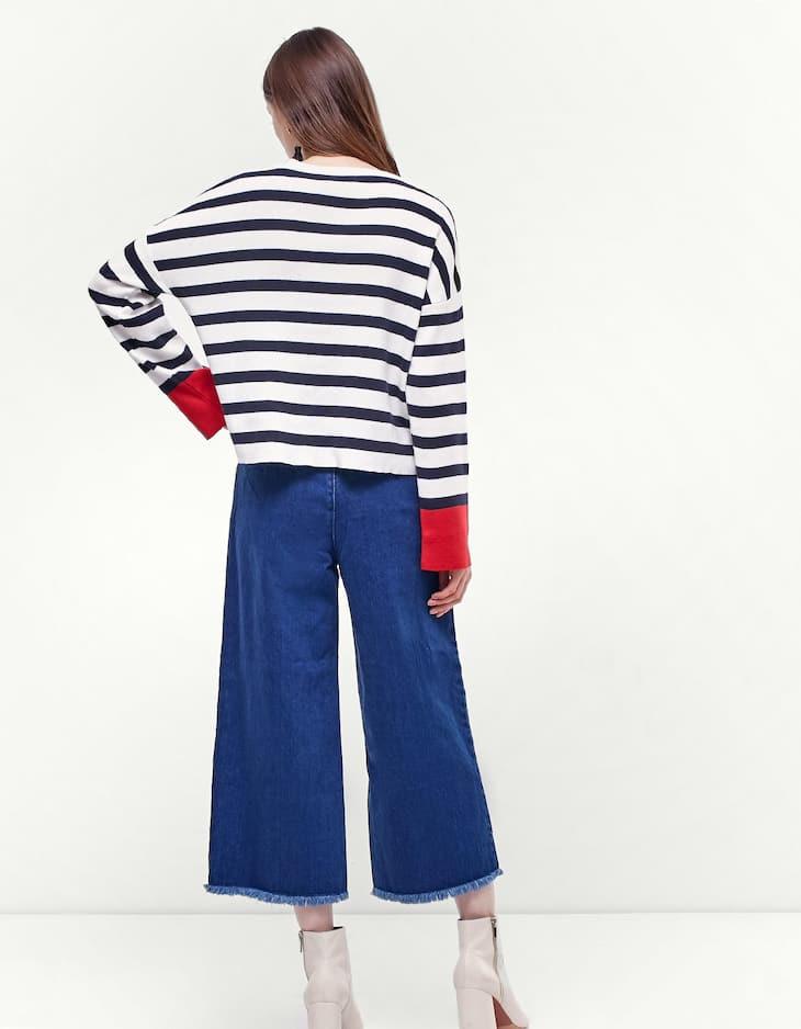 Jersey rayas manga contraste