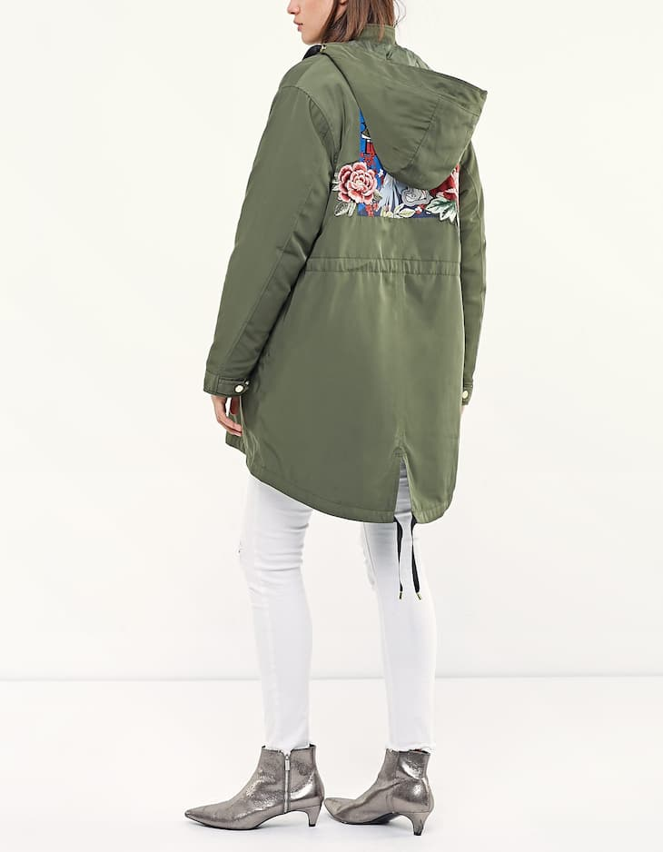 Oriental patch parka