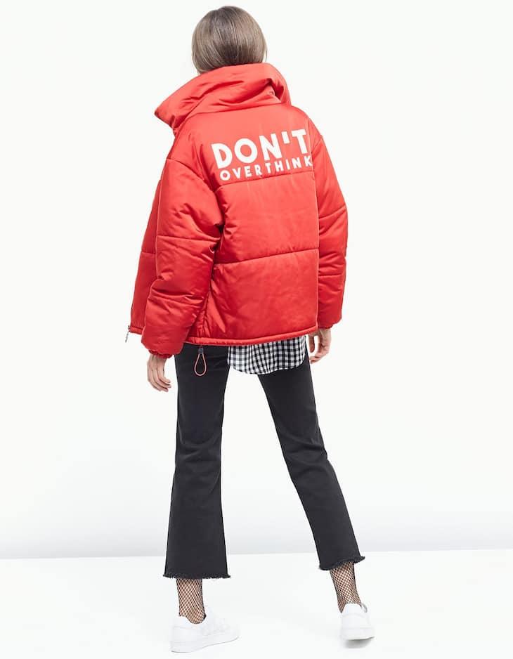Print padded puffer jacket