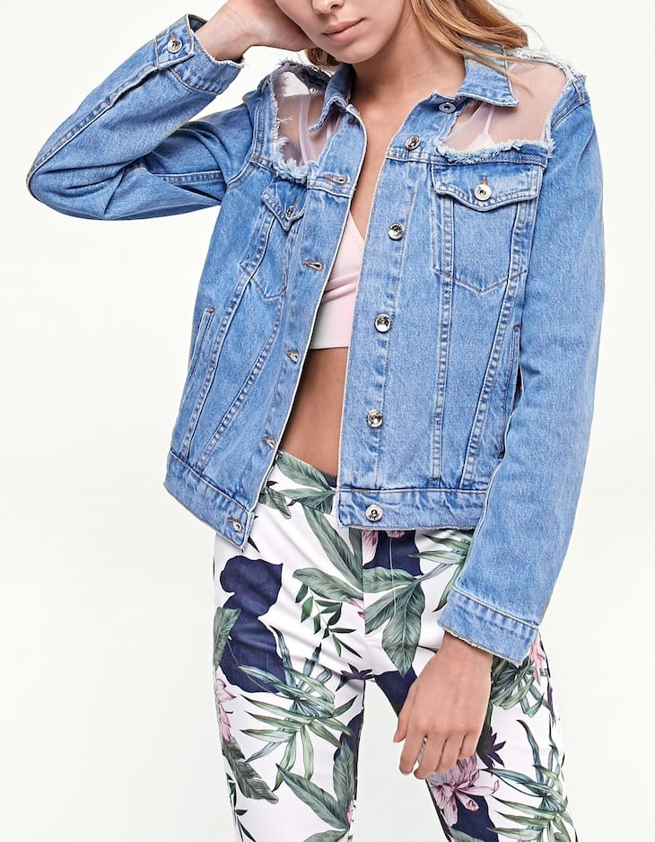 Organza denim jacket