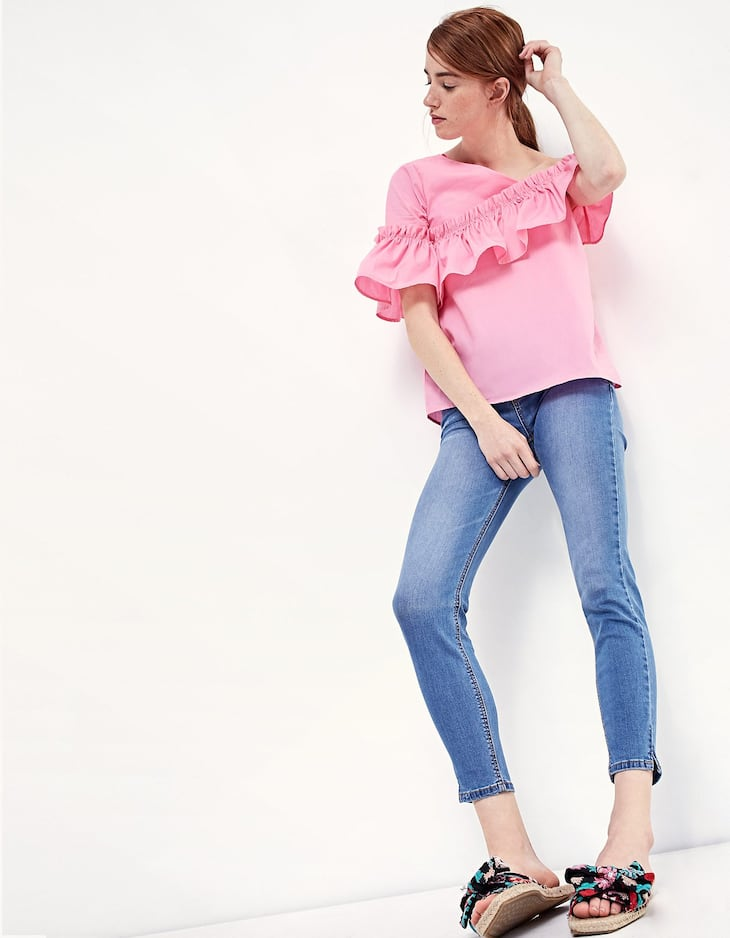 Asymmetrical top with frill