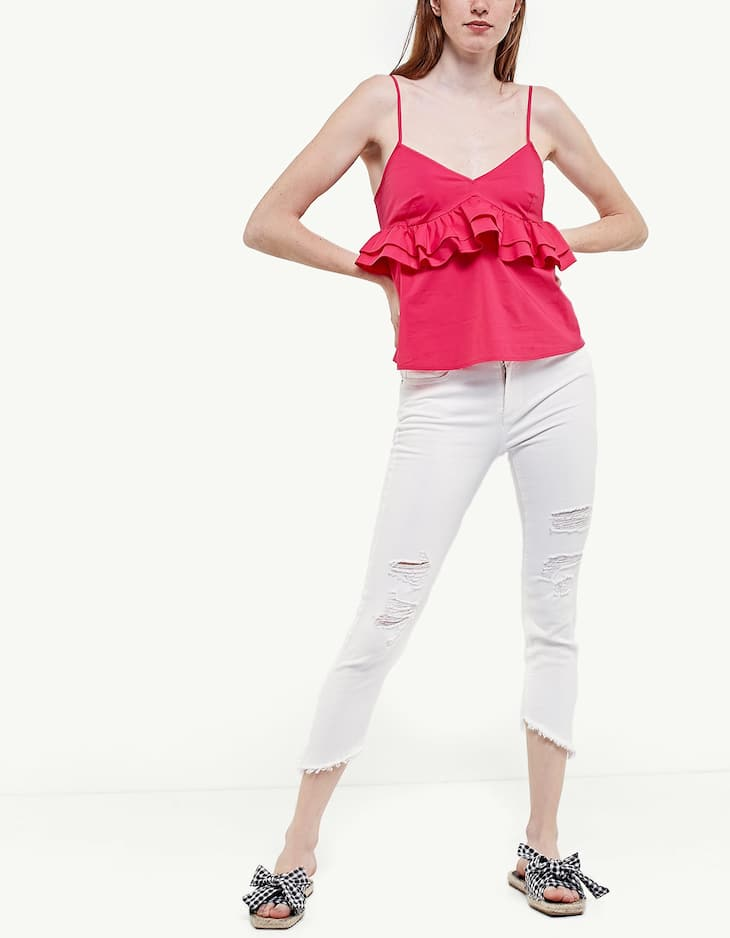 Strappy top with frills