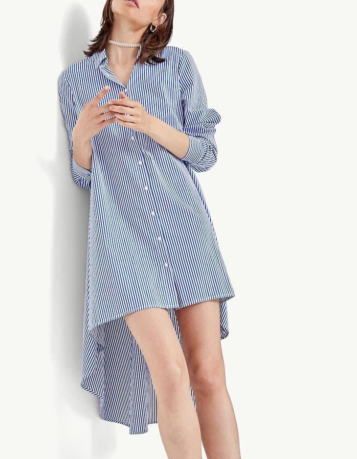 Extra long asymmetric shirt