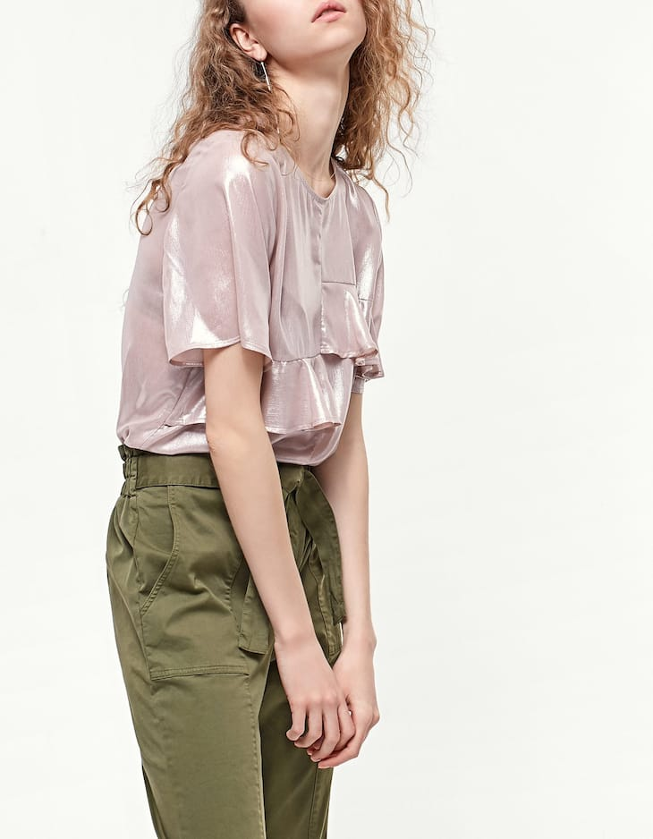 Top with frill detail