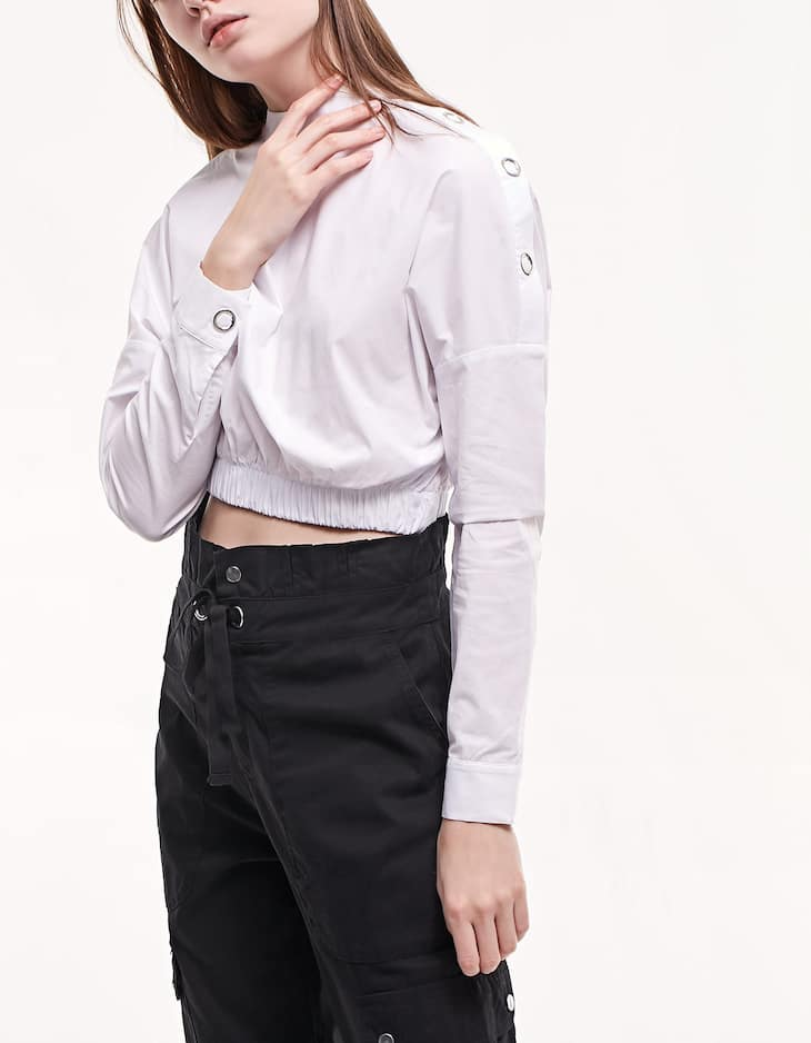 Shirt with shoulder detail