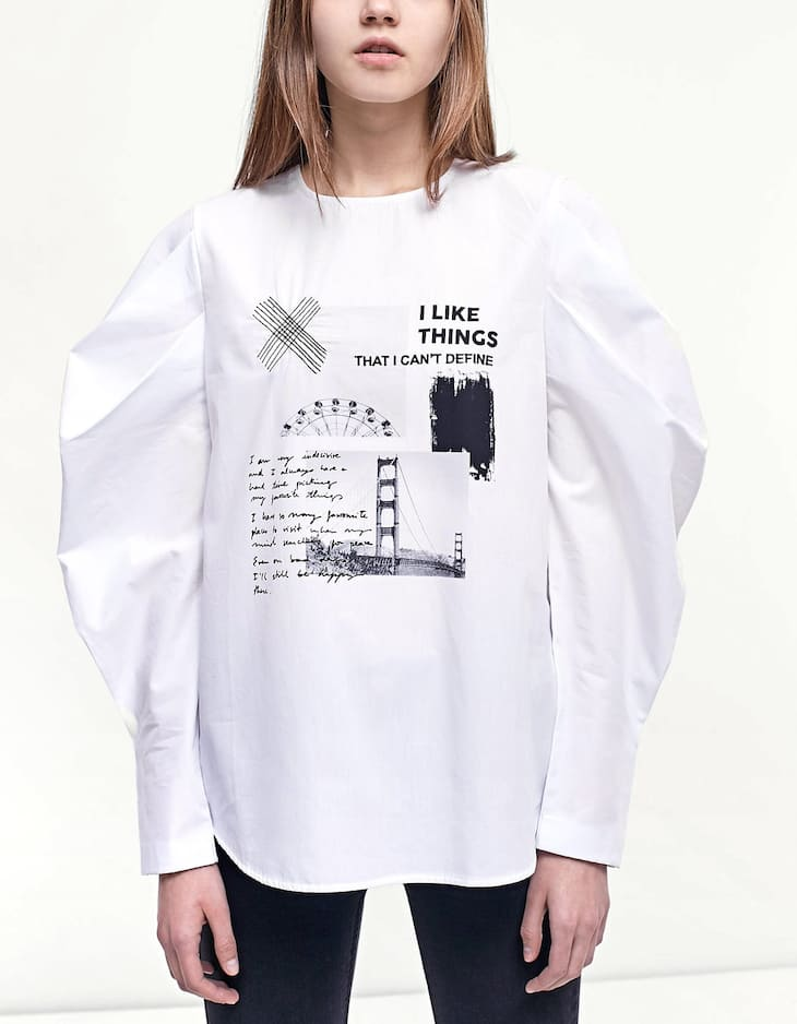 Oversize shirt with text detail