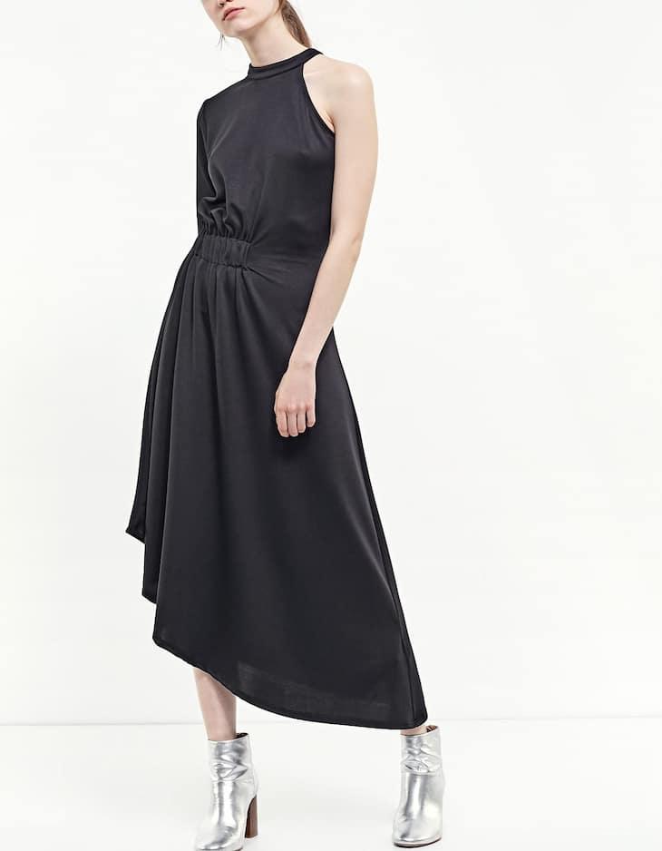 Vestido midi escote asimétrico