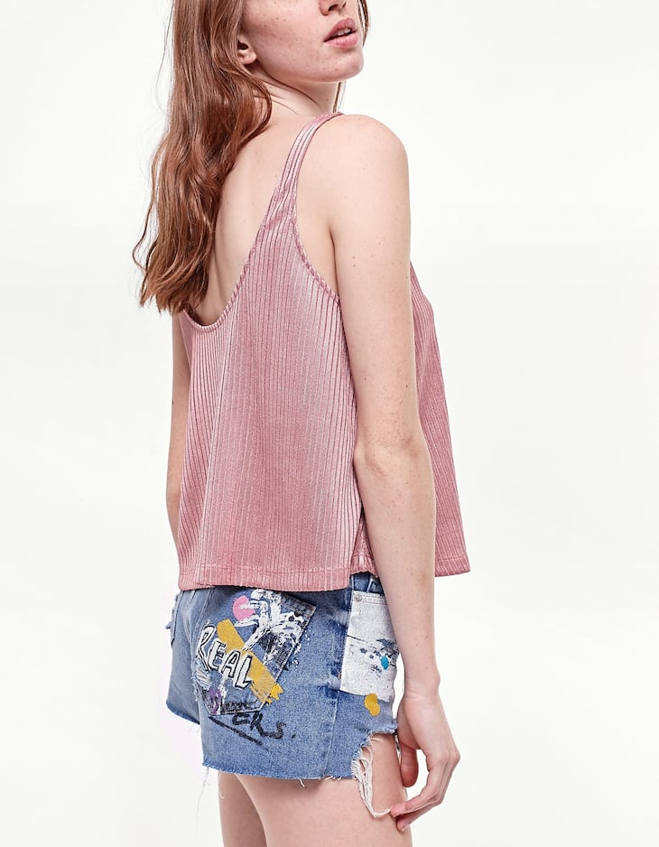 Cut&sewn cropped T-shirt