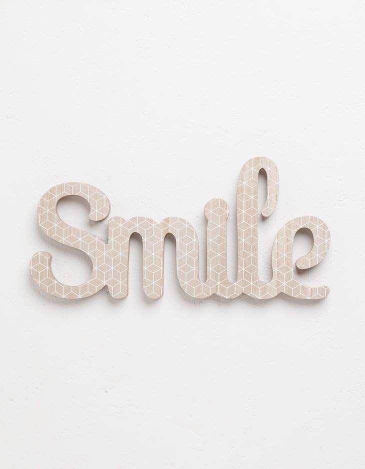 Cartel palabra smile