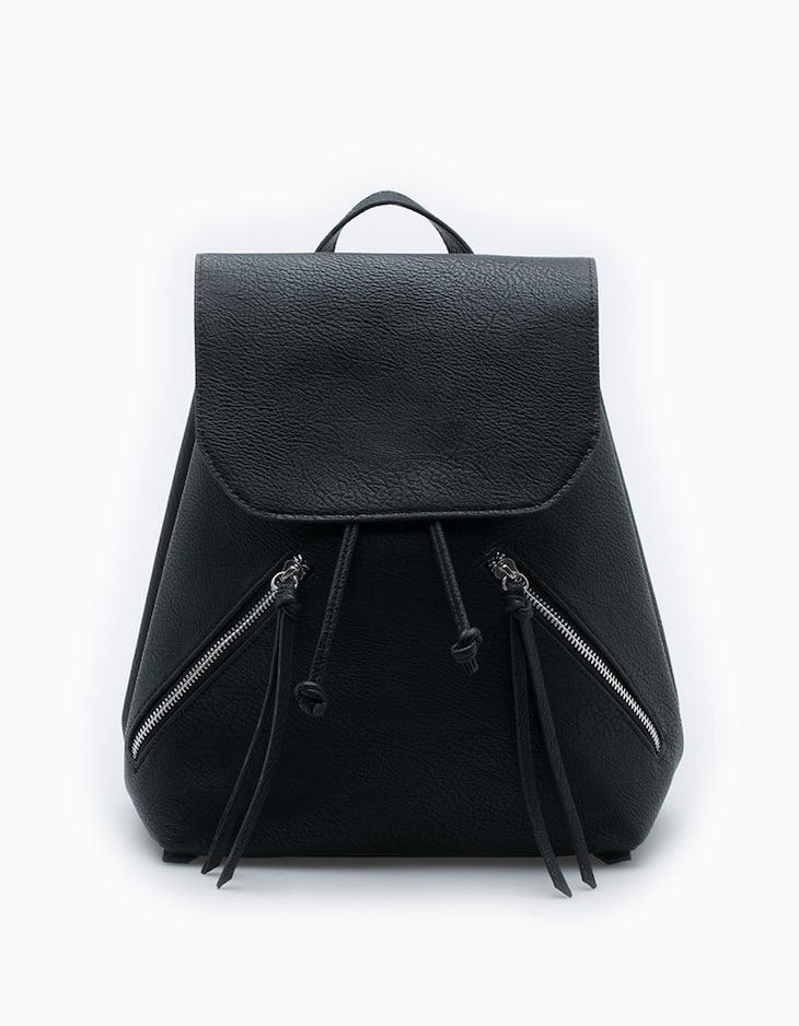 Mini backpack with zip detail