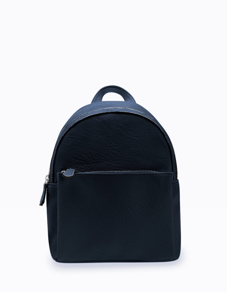 Contrast backpack with pocket