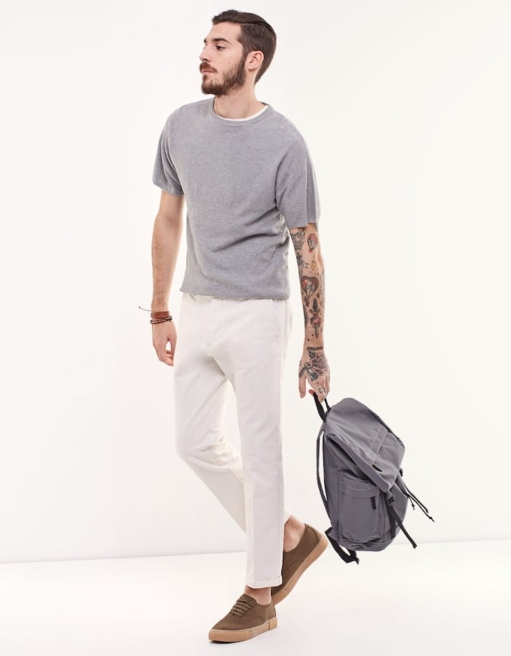 T408 tapered trousers