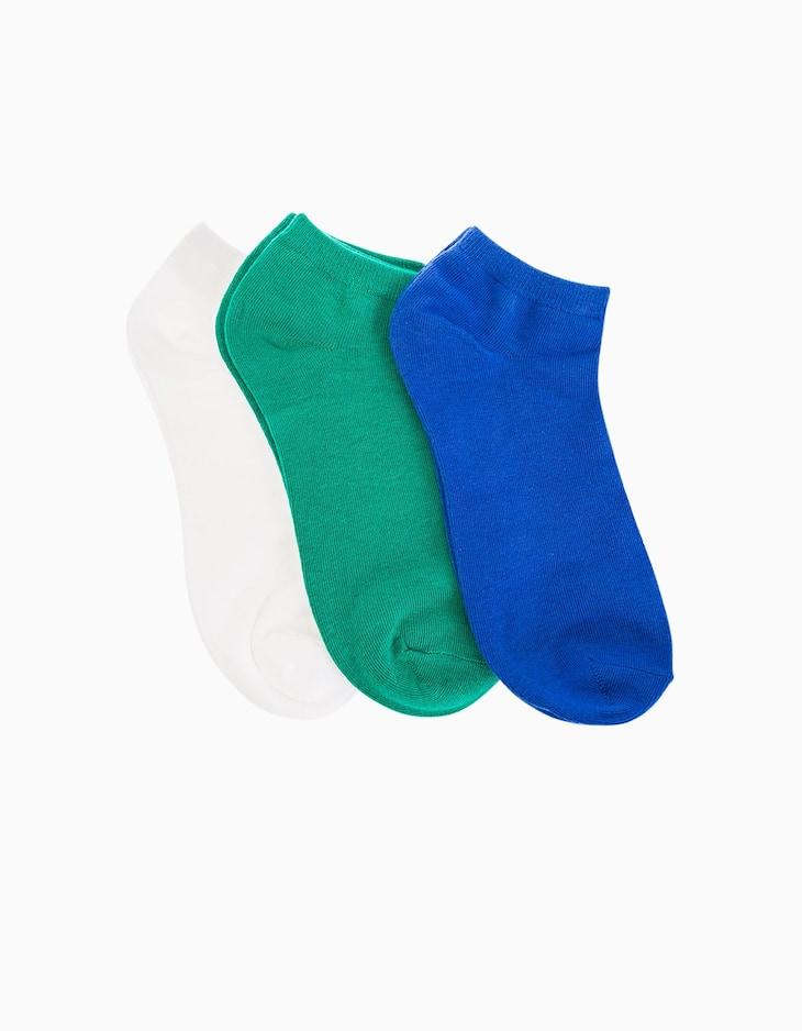 Комплект из 3 пар однотонных спортивных носков