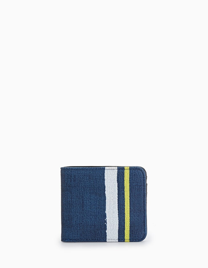 AMERICAN WALLET WITH PAINTED BAND DETAIL