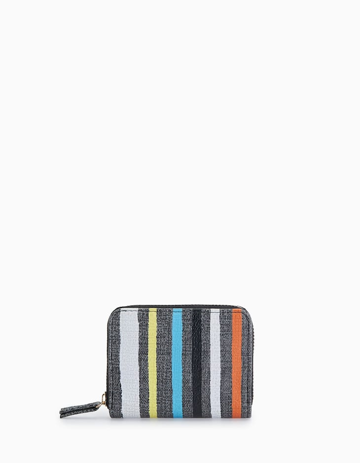AMERICAN WALLET WITH MULTI-COLOURED PAINTED BAND DETAIL