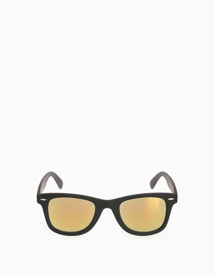 Очки с желтыми зеркальными линзами