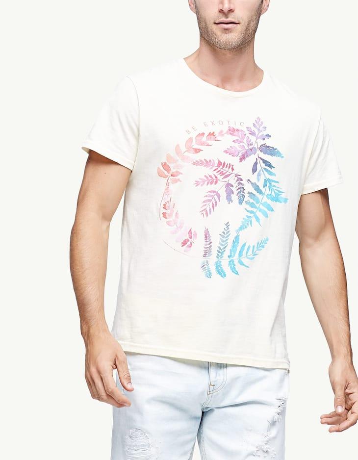 Exotic plants print T-shirt