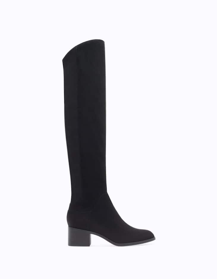 High heel elasticated XL boots