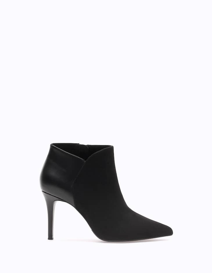 Narrow heel ankle boots