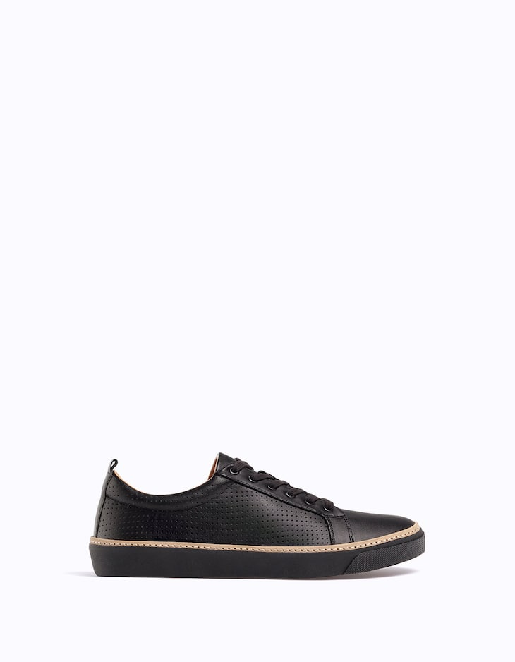 Plimsolls with pinking detail