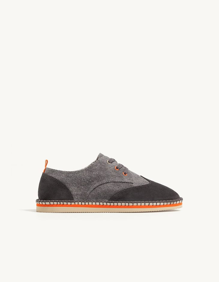 Fabric brogues with EVA sole