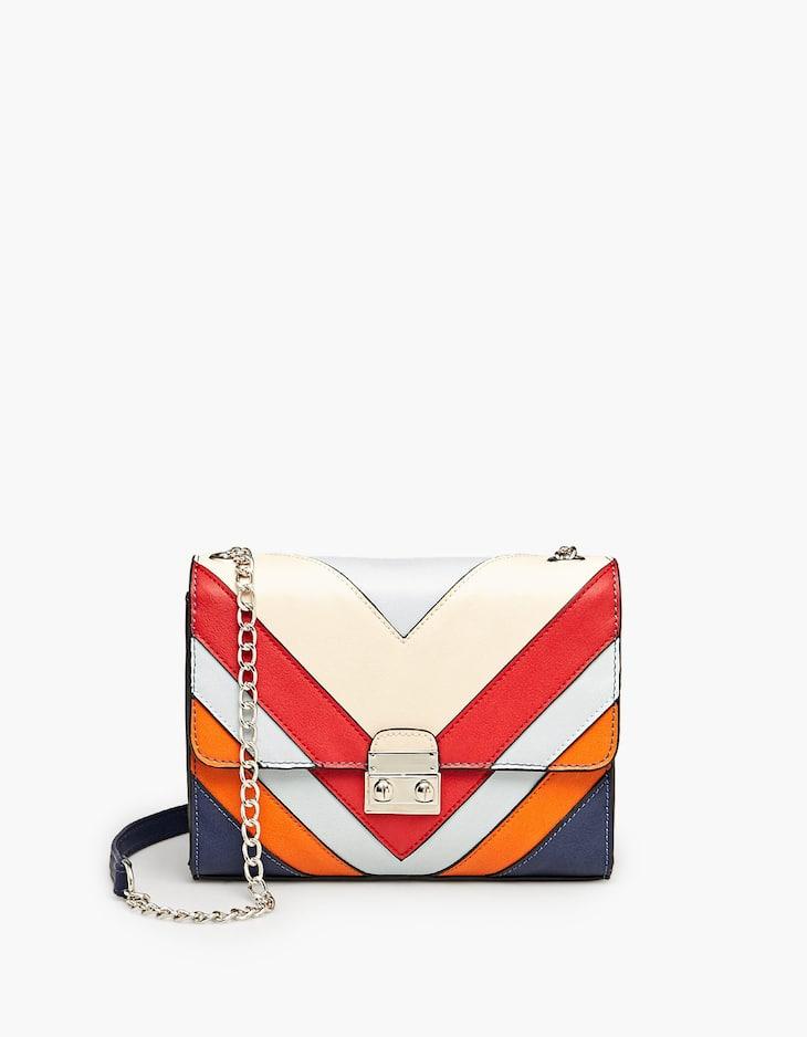Разноцветная сумка в стиле пэчворк