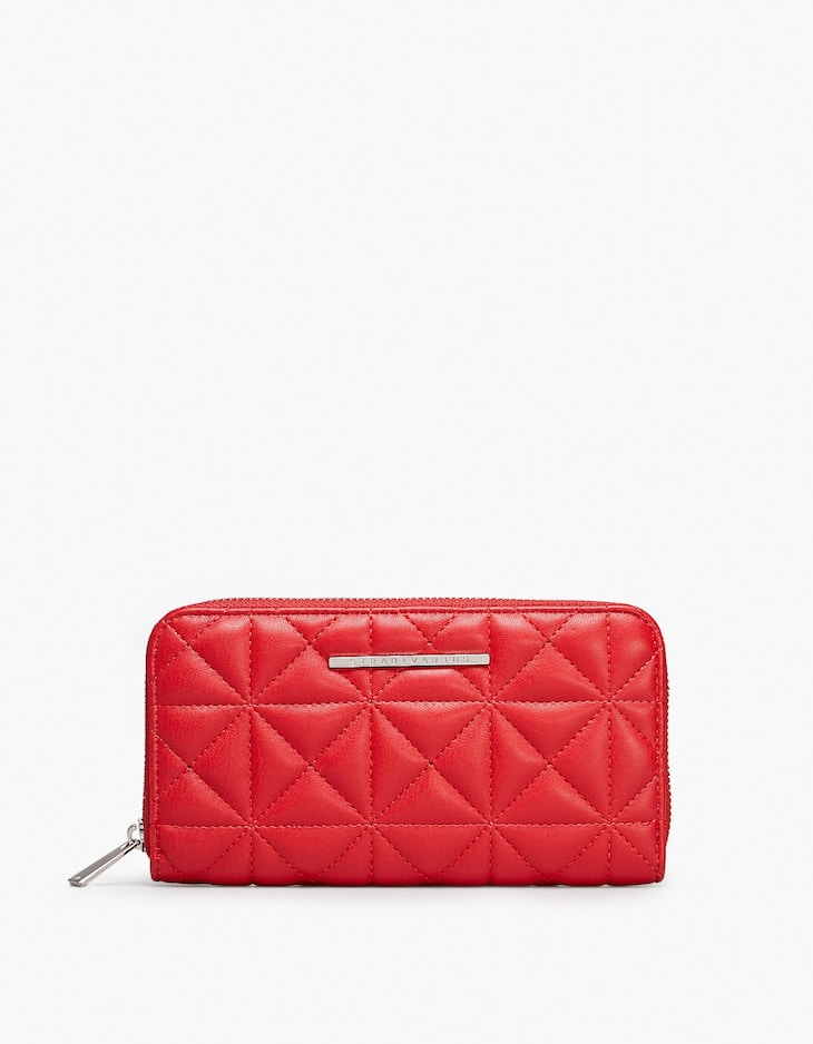 Quilted zip purse